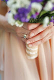 Wedding bouquet, manicure Royalty Free Stock Photography