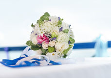 Wedding bouquet. The mixture flowers wedding bouquet Stock Photography