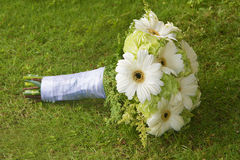 Wedding bouquet on nature Stock Image