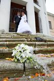 Wedding bouquet no stair Stock Photography