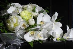 Wedding Bouquet On Black Piano Royalty Free Stock Photo