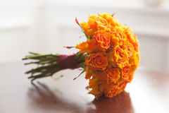 Wedding bouquet orange roses Stock Image