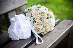 Wedding bouquet outdoor Stock Photography