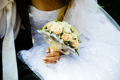 Wedding bouquet outdoor Royalty Free Stock Images