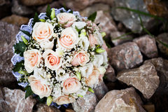Wedding bouquet outdoor Royalty Free Stock Photo