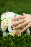 Wedding bouquet outdoor Stock Photos