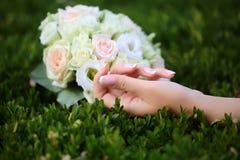 Wedding bouquet outdoor Stock Image