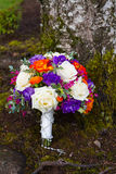 Wedding Bouquet Outdoors Stock Images
