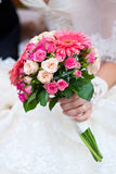 Wedding bouquet with pink flowers Royalty Free Stock Photography