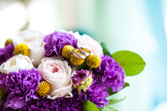 Wedding bouquet of pink and purple flowers Royalty Free Stock Photo
