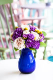 Wedding bouquet of pink and purple flowers Royalty Free Stock Photography