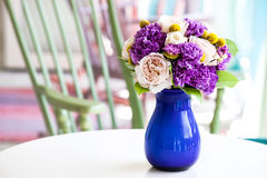 Wedding bouquet of pink and purple flowers Stock Images