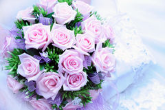Wedding bouquet. With pink roses Stock Photography