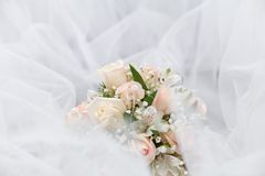 Wedding bouquet. Of pink roses Royalty Free Stock Images
