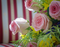 Wedding Bouquet of Pink Roses. Bouquet of Pink Roses at A Aummer Wedding Stock Photo