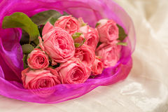 Wedding bouquet of pink roses Royalty Free Stock Photos
