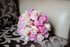 Wedding bouquet of pink roses Royalty Free Stock Images