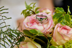 wedding bouquet pink roses Stock Photography