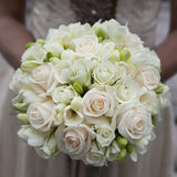 Wedding bouquet of pink and white  roses Royalty Free Stock Photos