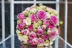 Wedding bouquet with pink and white roses Royalty Free Stock Photography