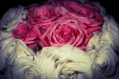 Wedding Bouquet pink and white stock images