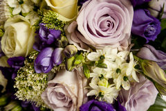Wedding bouquet. Purple wedding bouquet for every bright Stock Images