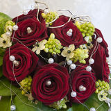 Wedding bouquet. Of red roses, close up Royalty Free Stock Photography