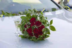 Wedding bouquet with red roses.GN Stock Photo