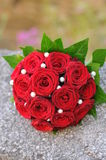 Wedding bouquet with red roses Royalty Free Stock Image