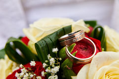 Wedding bouquet red roses Royalty Free Stock Images