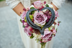 Wedding bouquet red white Stock Images