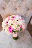 Wedding bouquet and rings. The concept of marriage and love. accessories marriage closeup Stock Image