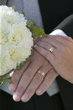 Wedding bouquet with rings.GN Royalty Free Stock Photos