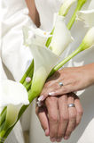 Wedding bouquet with rings.GN Stock Images