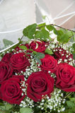 Wedding bouquet with rings.GN Royalty Free Stock Photography