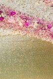 Wedding bouquet with rose bush, Ranunculus asiaticus as a backgr Stock Photos