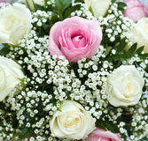 Wedding bouquet of roses. Close-up royalty free stock images
