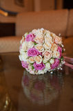 Wedding bouquet from roses Royalty Free Stock Photography