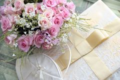 Wedding bouquet of roses. Stock Photo