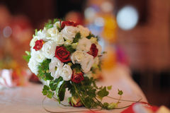 Wedding bouquet from roses Stock Image