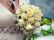 Wedding bouquet of roses Stock Images