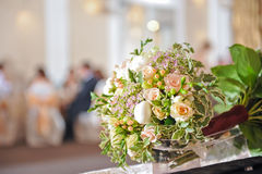 Wedding bouquet with roses Stock Images