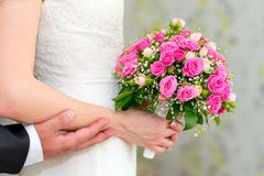 Wedding bouquet of roses. Stock Image
