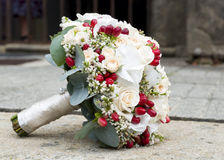 Wedding bouquet. Of roses and flowers on a ground Stock Photos