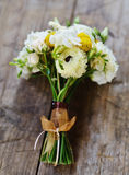 Wedding bouquet with roses and freesia Royalty Free Stock Images