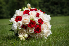 Wedding bouquet of roses Stock Image