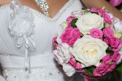 Wedding bouquet of roses Royalty Free Stock Images
