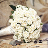 Wedding bouquet from roses Royalty Free Stock Photos