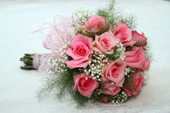 Wedding bouquet of roses. Wedding bouquet of pink roses Royalty Free Stock Photos