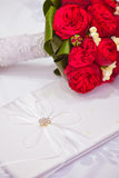 Wedding bouquet with roses royalty free stock photography